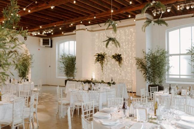 decoração minimalista em casamento
