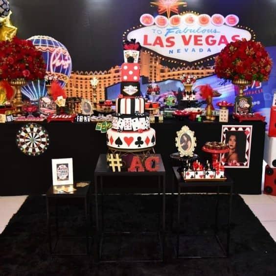 tema Las Vegas e cassino para aniversário