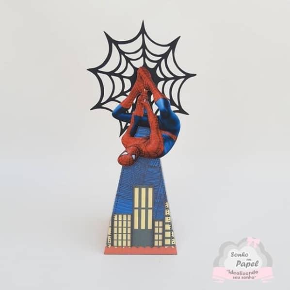 caixa para festa Homem Aranha