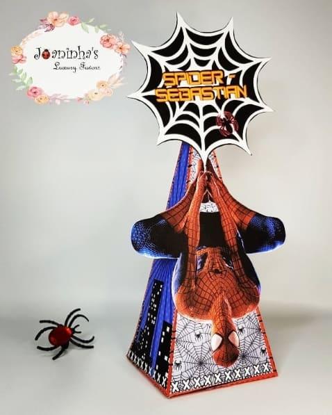 caixa Homem Aranha vermelho
