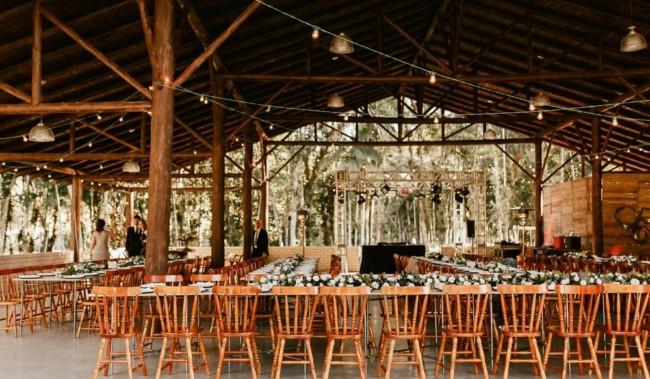 decoração de casamento rústico estilo minimalista