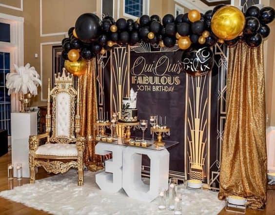 decoração de luxo para aniversário de 30 anos
