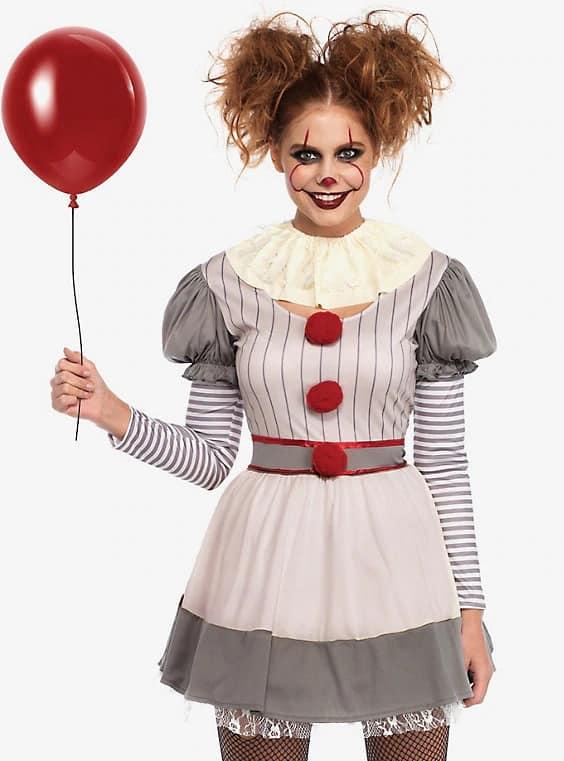 fantasia assustadora de palhaça para Halloween