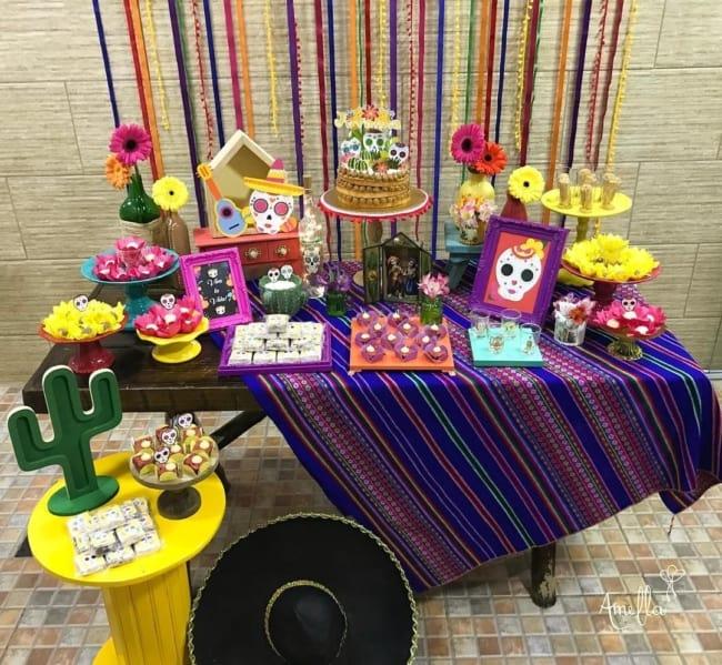 decoração para festa mexicana