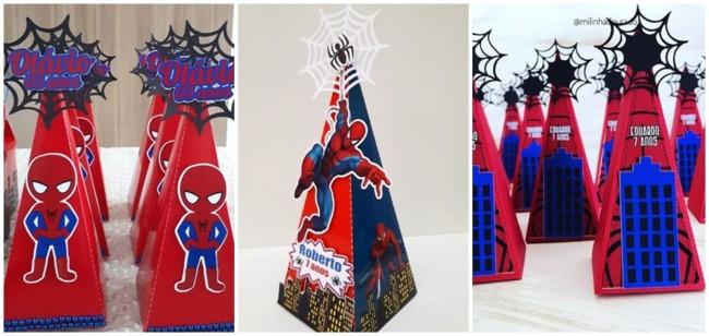 caixa cone Homem Aranha