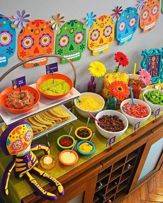 decoração de festa simples com tema mexicano