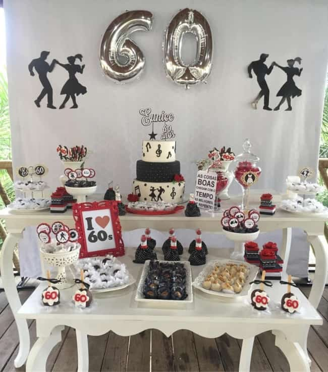tema de festa para comemorar 60 anos
