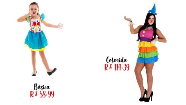 onde comprar e preços de fantasias de palhacinha
