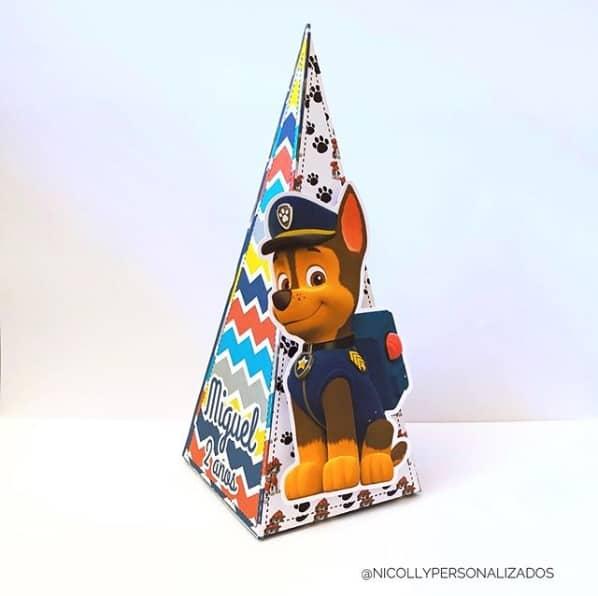 caixa cone para festa Patrulha Canina