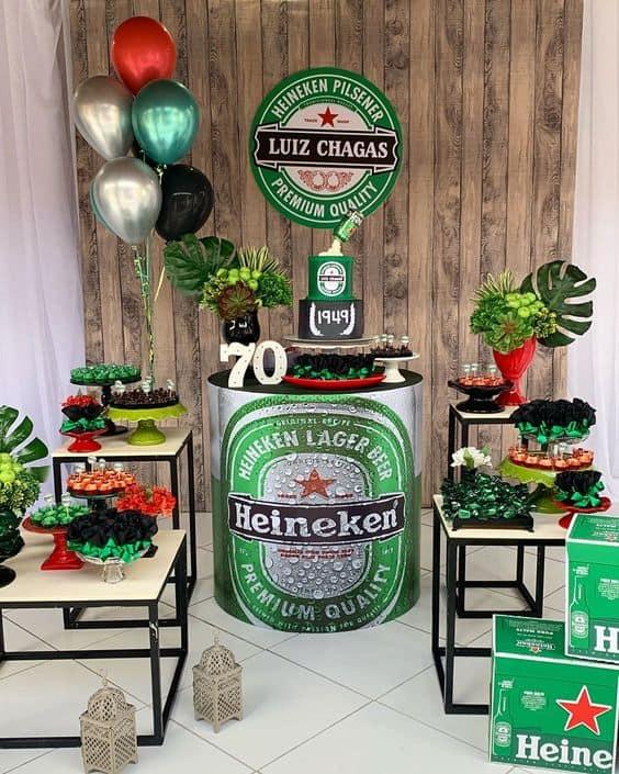 decoração e tema de festa masculina