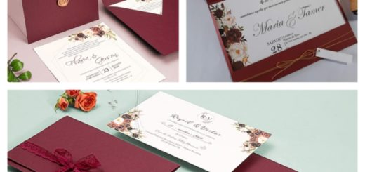 ideias de Convite de casamento marsala
