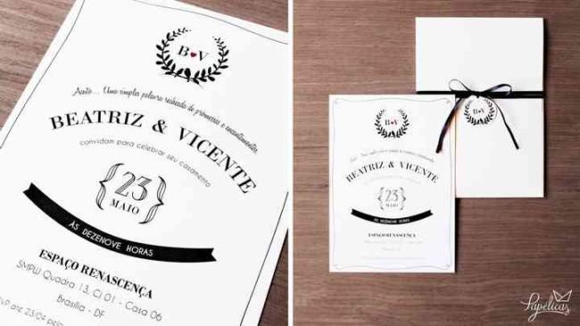 modelo de convite de casamento simples e atual