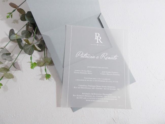 convite de casamento moderno e de luxo