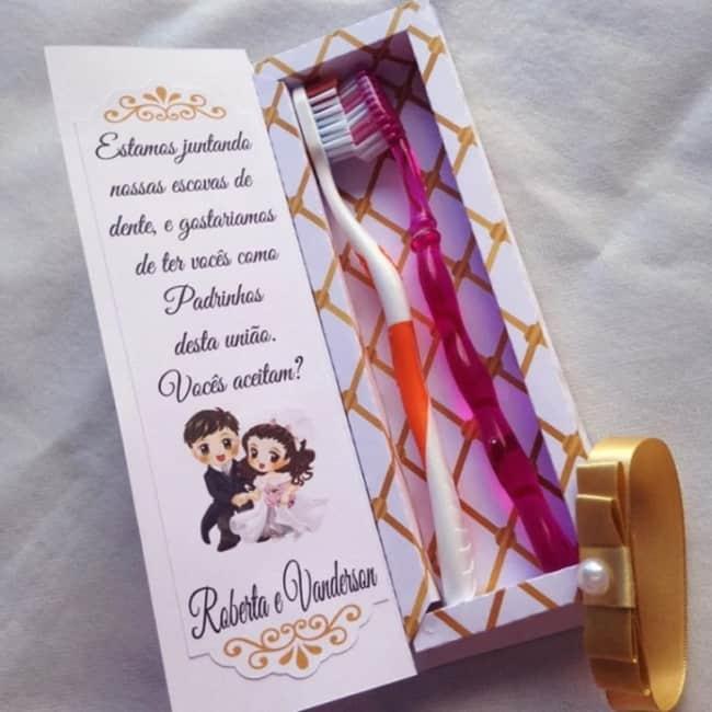 convite criativo para padrinhos de casamento civil