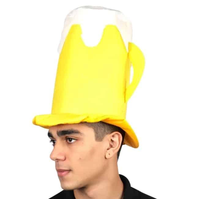 fantasia de cerveja masculina com chapeu