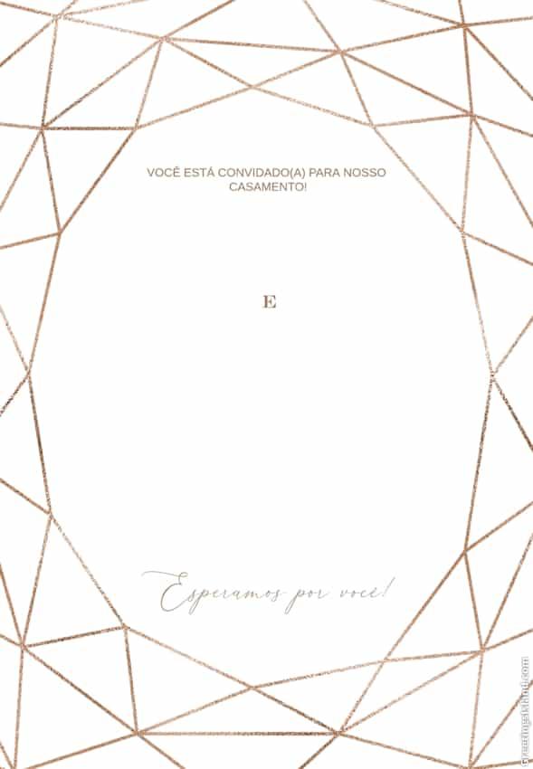 convite de casamento geometrico para imprimir gratis
