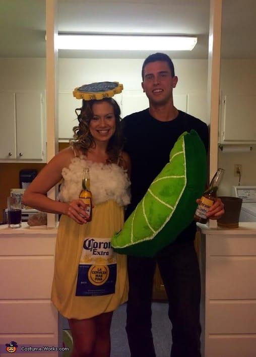 fantasia de casal cerveja com limao