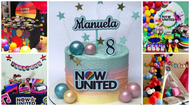 ideias para festa now united