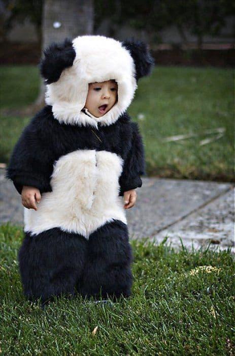 fantasia de panda para crianca
