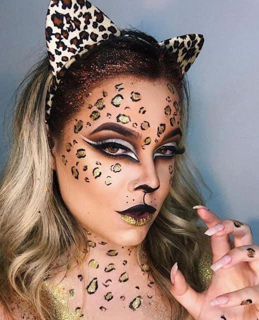 maquiagem de onca para fantasia feminina