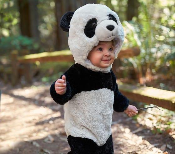 fantasia de bebe com macacao de panda