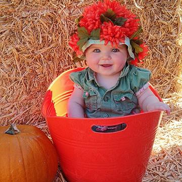 fantasia de bebe de cesto de flores
