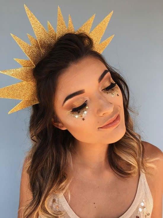 fantasia de sol feminina com maquiagem