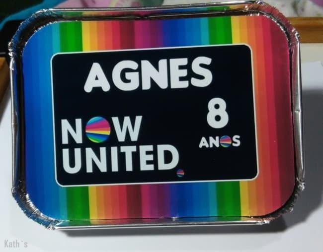 marmitinha personalizada para festa Now United