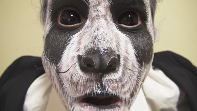maquiagem masculina de panda