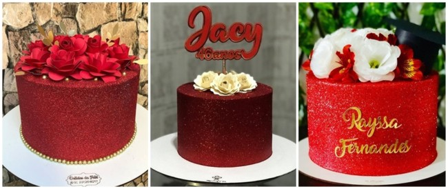 glow cake vermelho