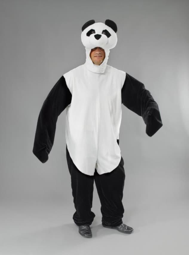 fantasia de panda para homem