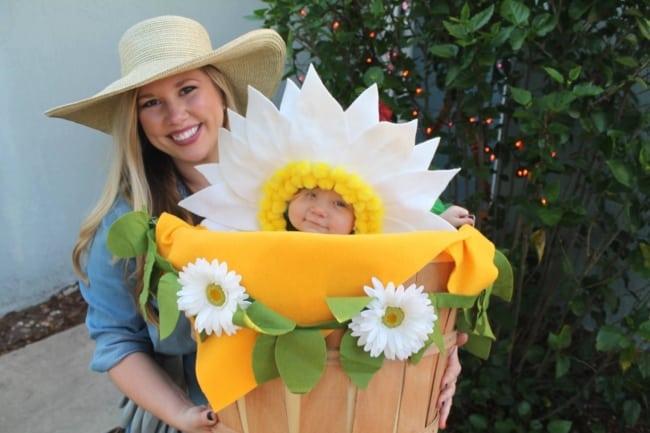 fantasia de vaso de flor para bebe