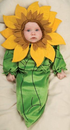 fantasia de flor com macacao para bebe