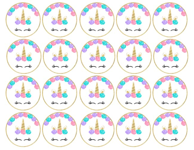 toppers de unicornio para imprimir e decorar docinhos