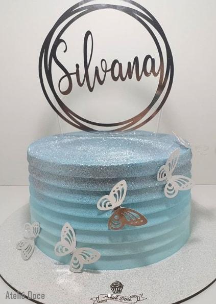 glow cake degrade azul claro
