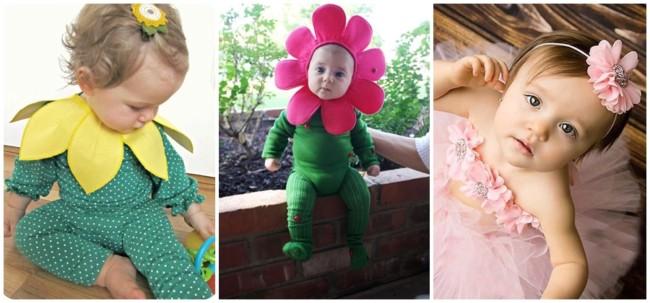 ideias de fantasias de flor para bebe