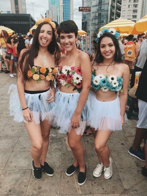 ideias de fantasia de flor simples para bloquinho de carnaval