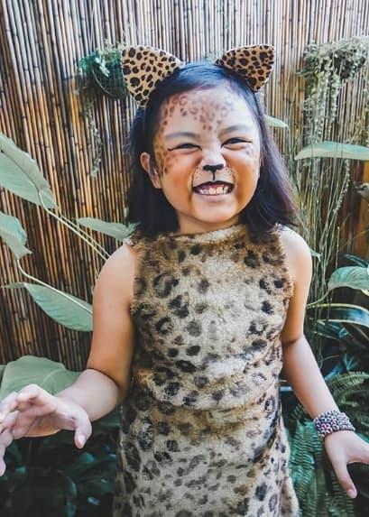 fantasia de onca para menina com maquiagem