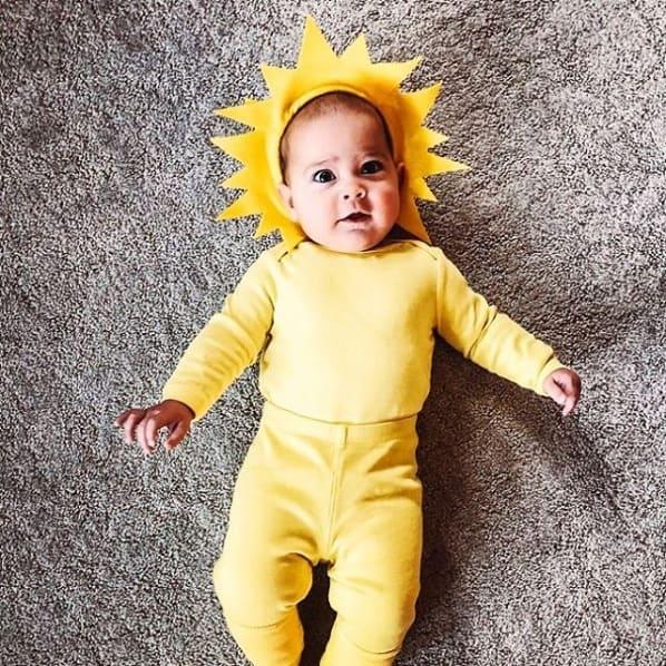 fantasia de sol simples para bebe