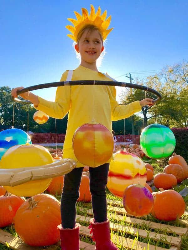 fantasia infantil de sistema solar