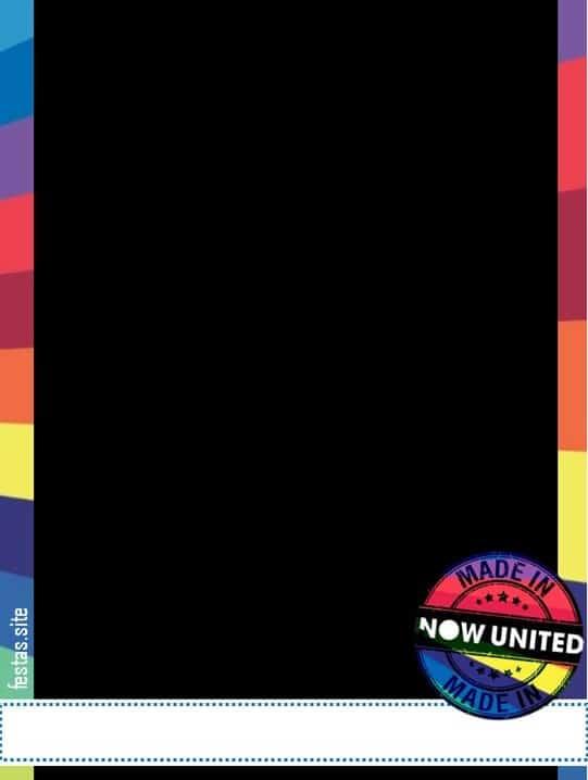 convite colorido para festa now united