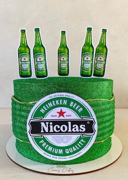 glow cake da Heineken