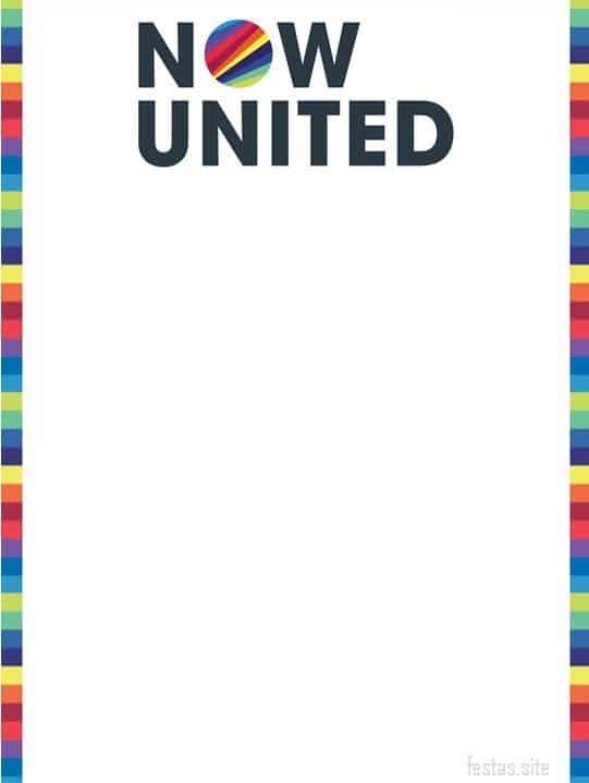 convite simples Now United