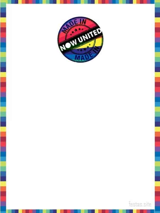 convite simples para imprimir festa Now United