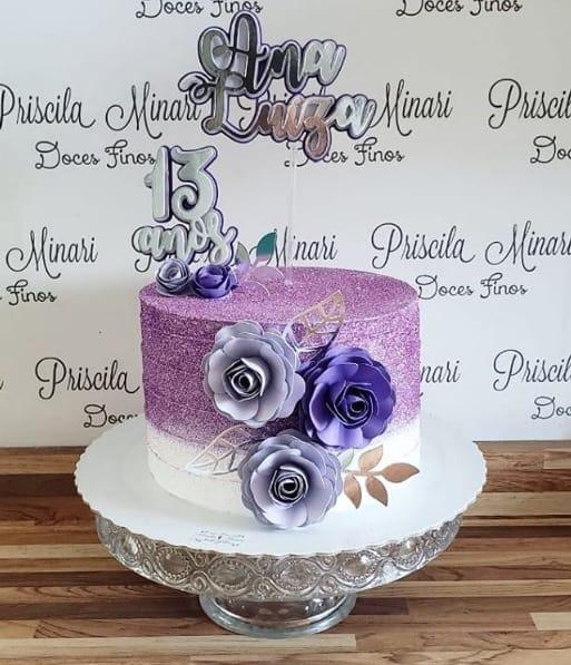 glow cake lilas