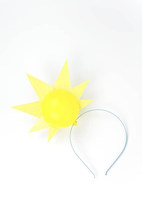 passo a passo de acessorio de cabeca para fantasia de sol