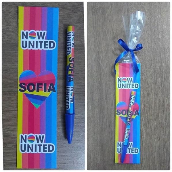 lembrancinha personalizada simples para festa Now United