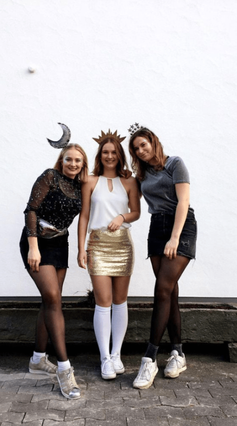 fantasia de carnaval para trio de amigas