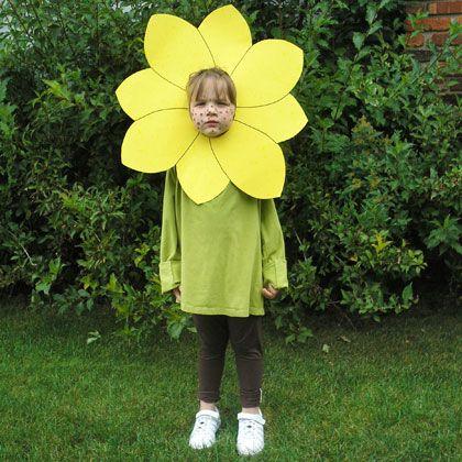 fantasia infantil simples de flor