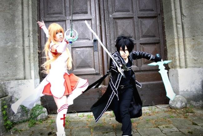 Personagens Asuna e Kirito